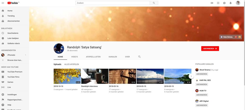 Youtube Channel Randolph