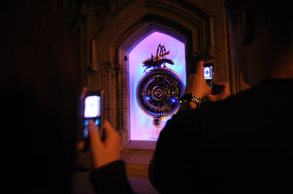 Unveiling of the Corpus Clock & Chronophage, Cambridge