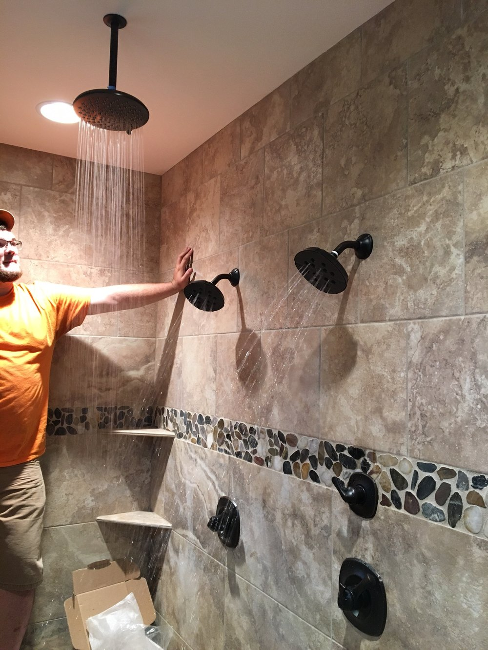 Home Plumbing - Shower Installation