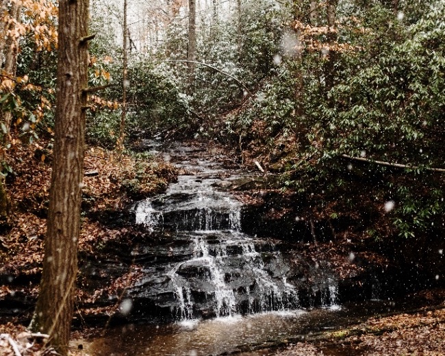 Project Waterfall - a new development in the woods of the north GA mountains. Coming soon.