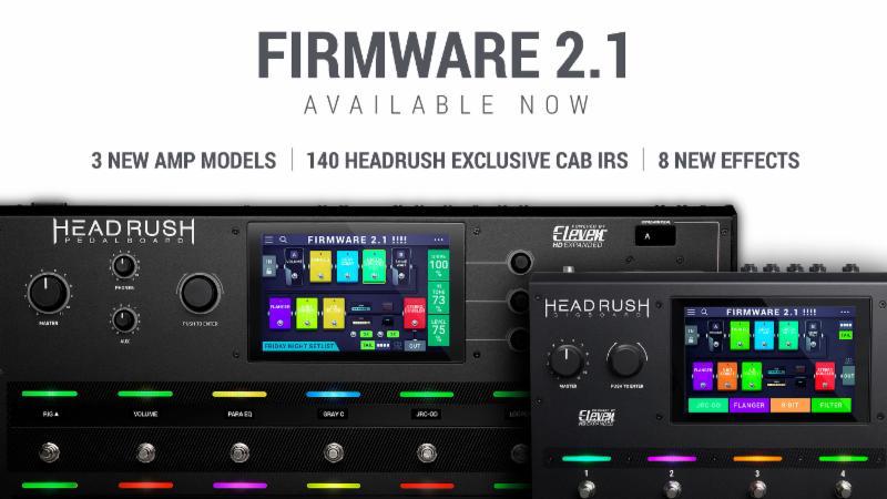 HeadRush   Firmware Update v2 1   Pedalboard and Gigboard — Algam