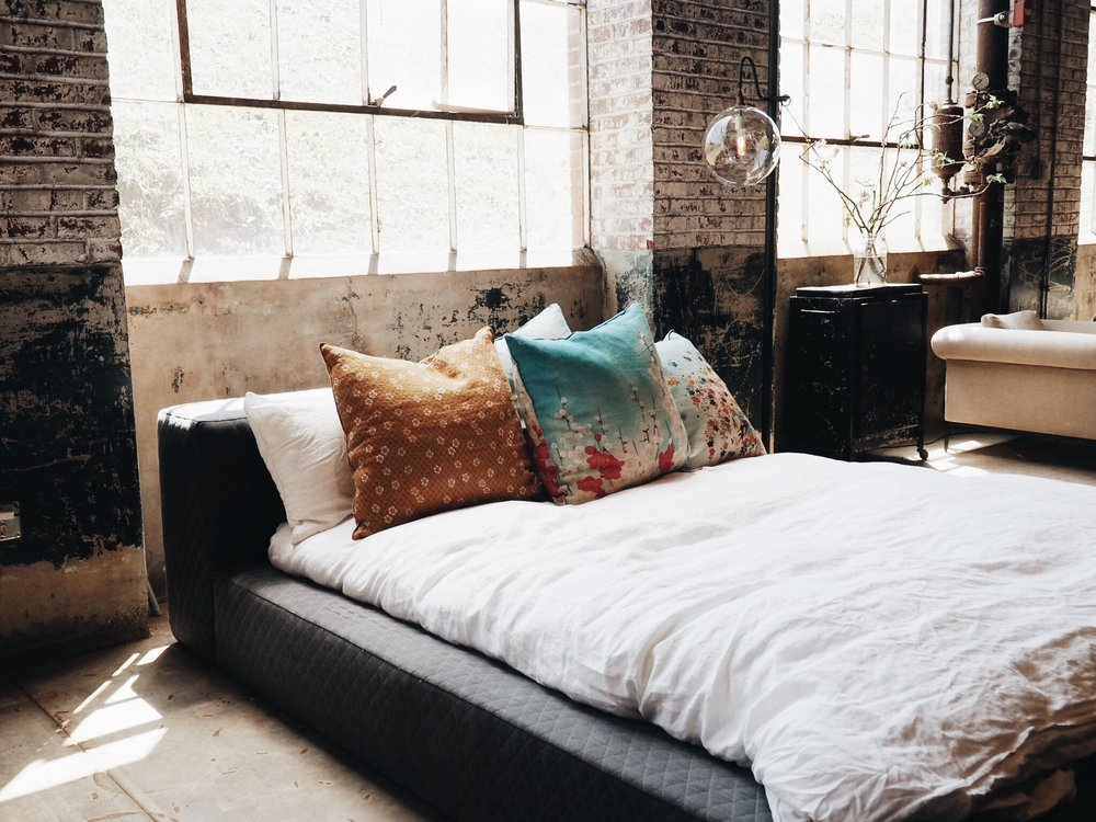 Industrial Grunge - Mickey and her ex-girlfriend picked out their last place together. So she was determined to find a place that truly represented HER. That place was an open air loft in a partially gentrified neighborhood north of downtown. Her bed was in her living room and her kitchen was also her bathroom but it was her space and she loved it more than anything else.