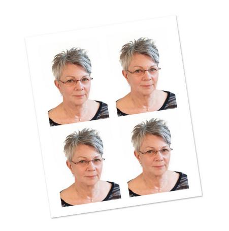 Idfoto på kvinna i 50 års åldern