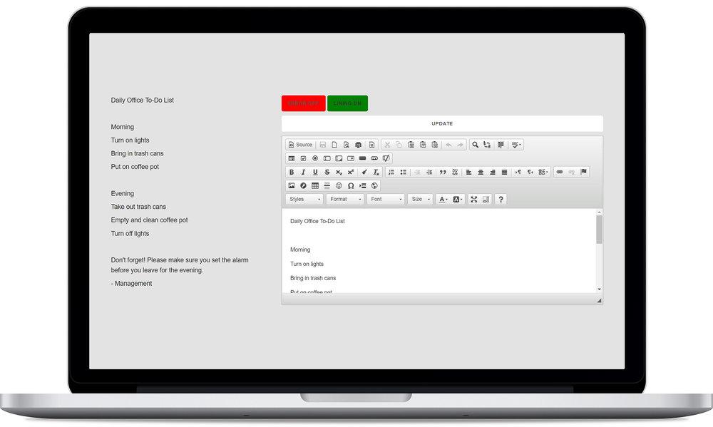 Oz user interface.