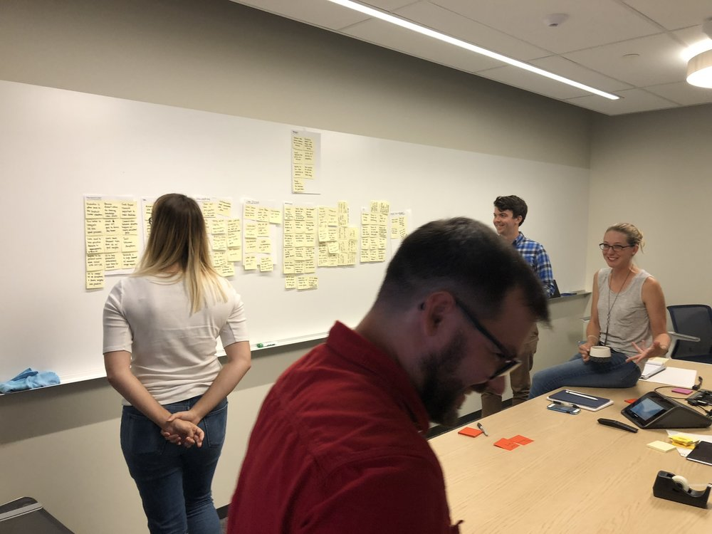 Ideation workshop in action.