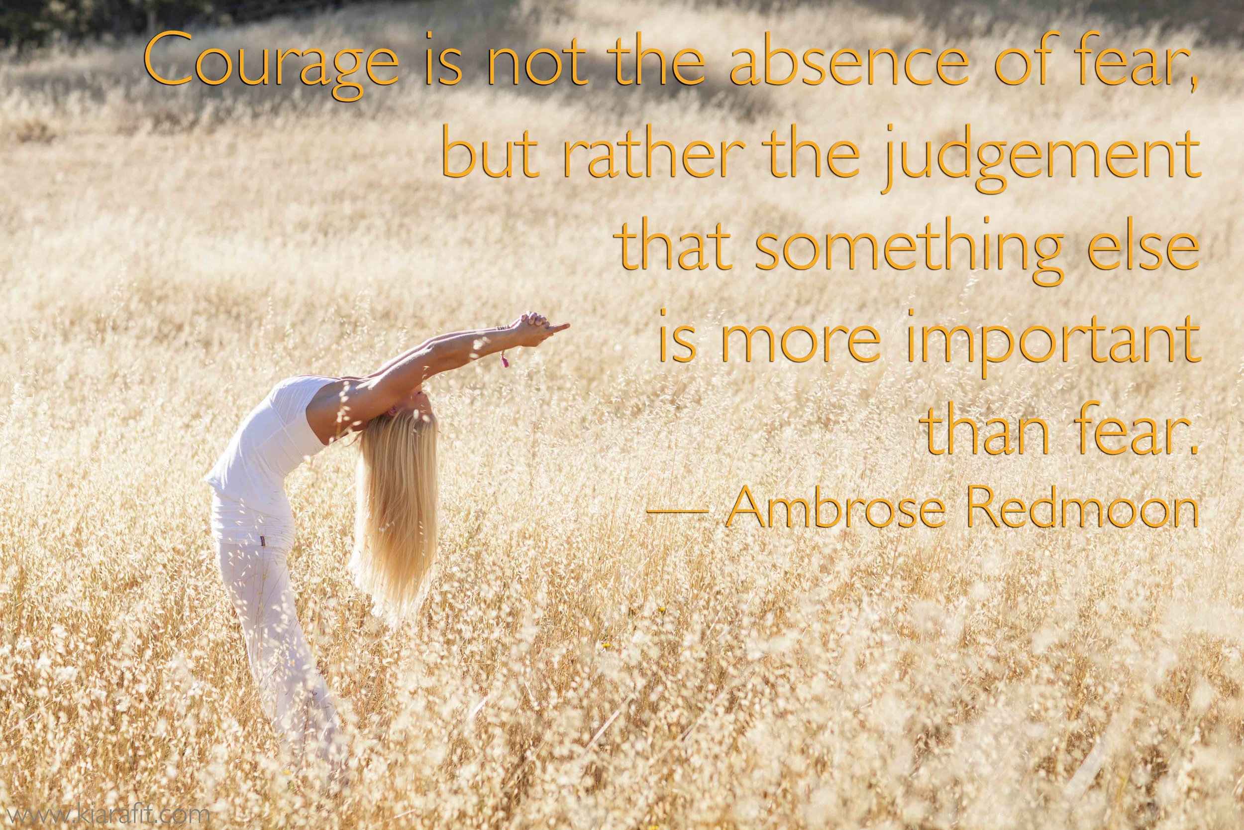 Courage Is Not The Absence Of Fear Ambrose Redmoon