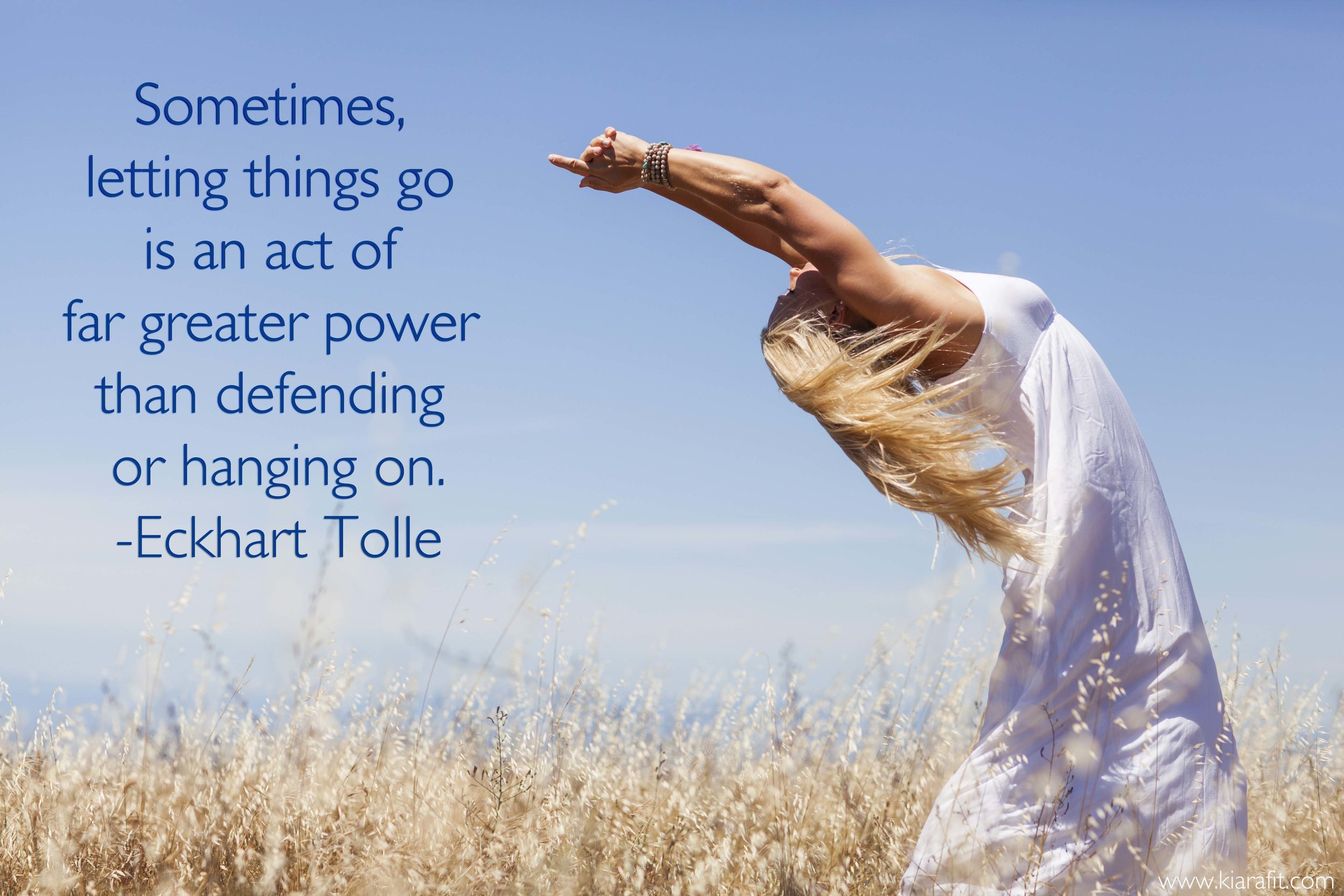 letting go greater power eckhart toll