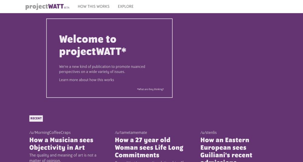 projectWATT