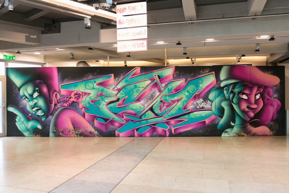 Graf by Trik09 in Sadlers Wells foyer