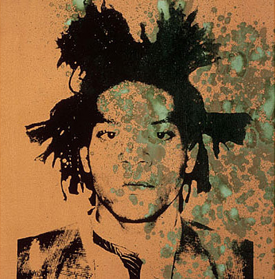 Basquiat,  1982 Black photo-silkscreen over oxidized copper