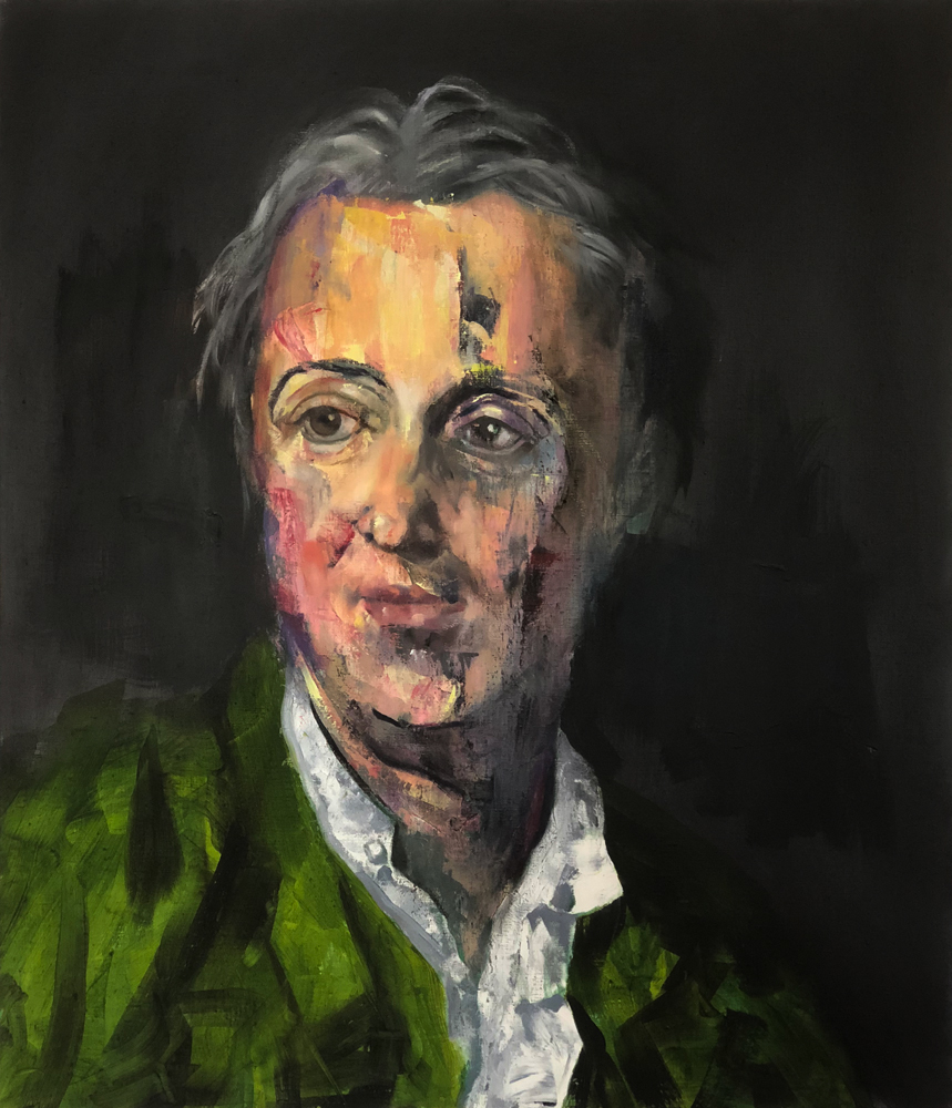 Denis Diderot, 2018 Oil on Linen 71x61cm (Available for Sale)