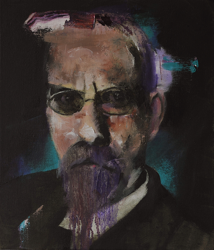 Edmund Husserl 2017, Oil on Linen 35x30cm (Private Collection)