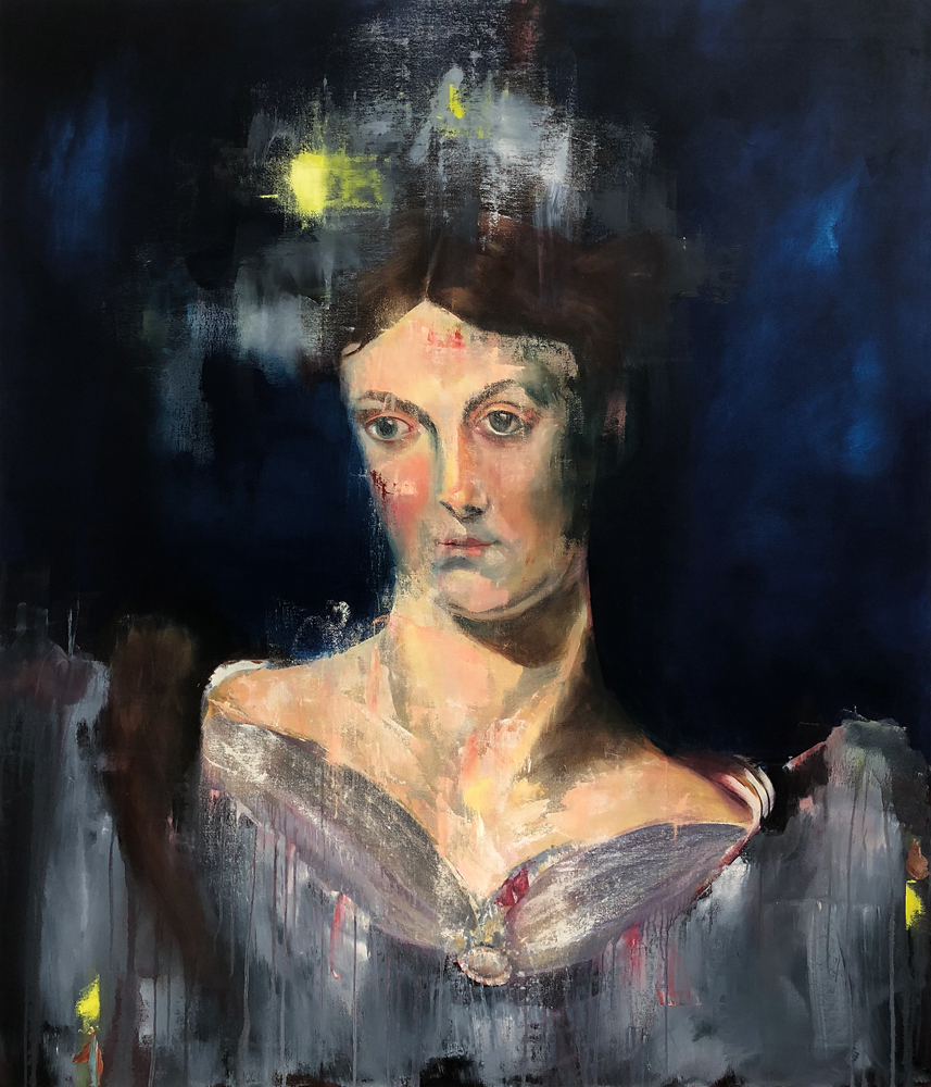 Harriet Martineau 2018, Oil on Canvas 140x120 cm (Available for Sale)