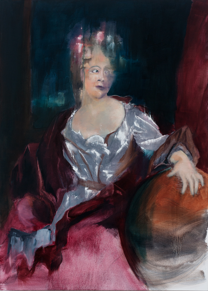 Émilie du Châtelet, 2018 Oil on Canvas 140x100cm (Available for Sale)