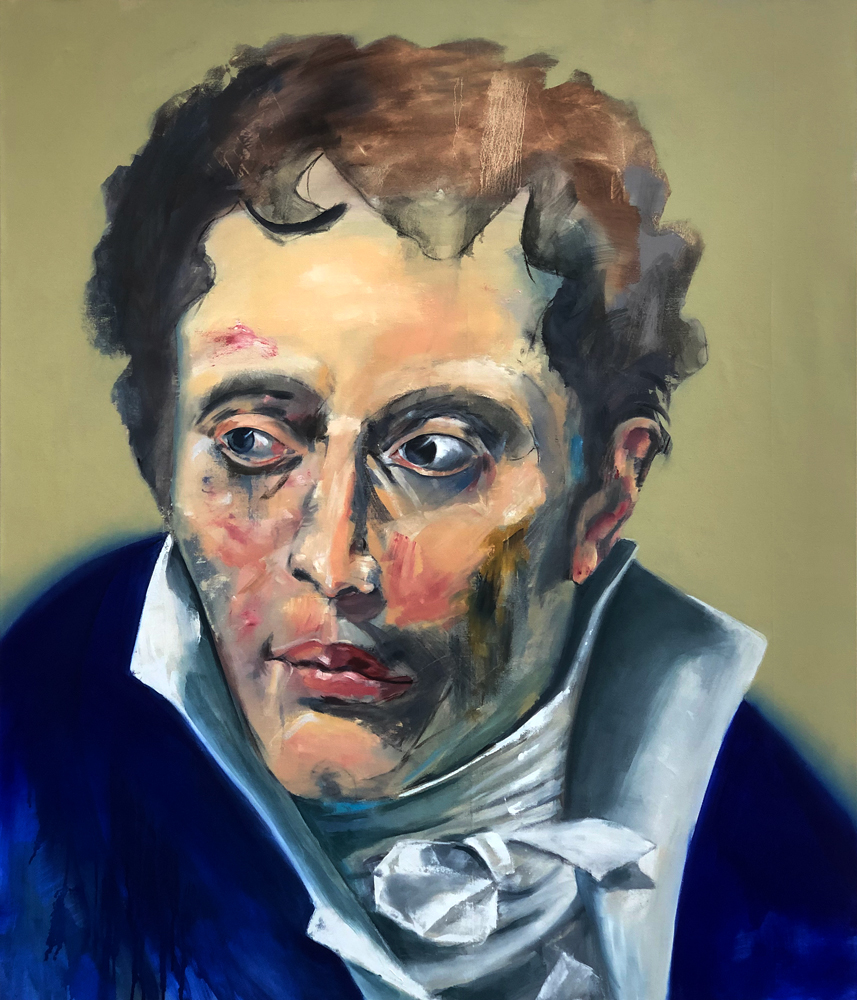 Arthur Schopenhauer, 2018 Oil on Canvas 140x120cm (Available for Sale)