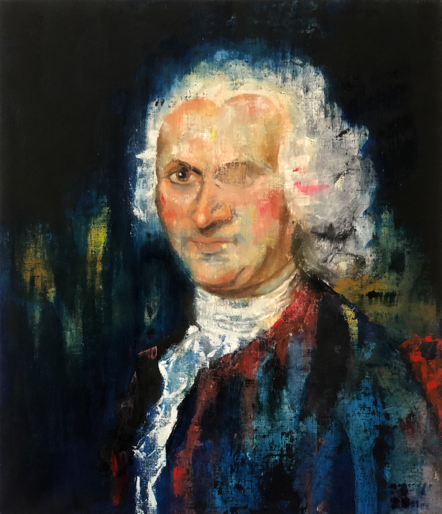Jean-Jacques Rousseau, 2018 Oil on Linen 71x61 cm (Available for Sale)