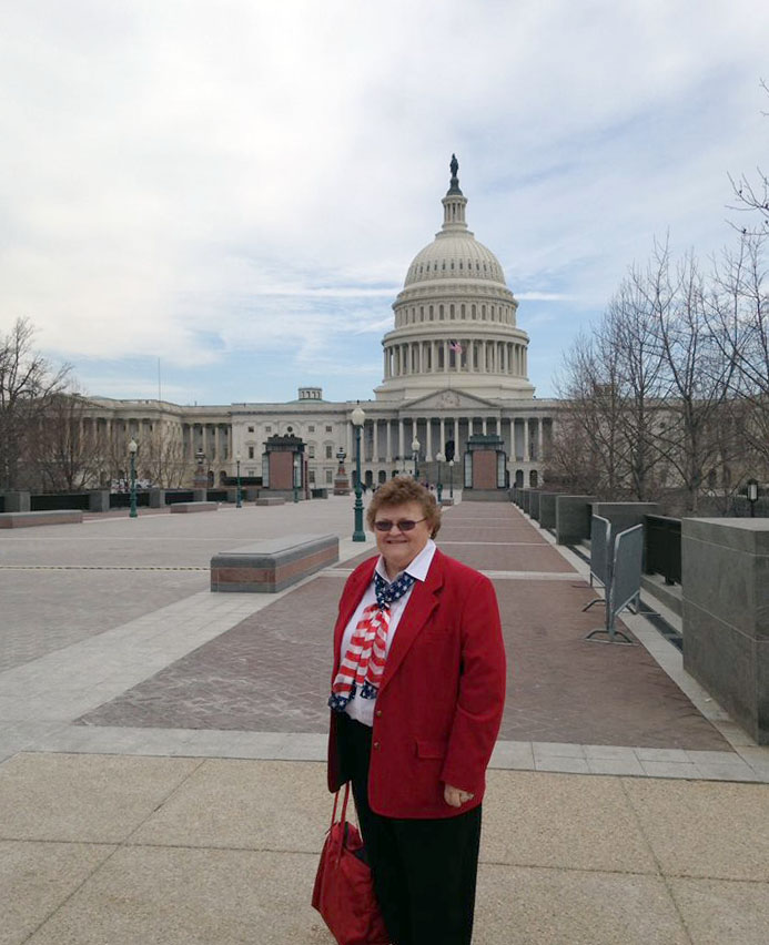 Colorado WIFE President and National WIFE Area II Director, Cathy Scherler, heading to the US Capitol for briefings from the Senate Ag Committee.