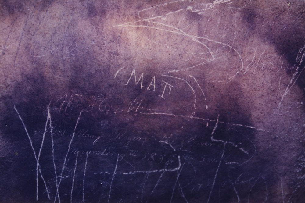 Mat Bransford's Name Carved into a Cave Wall in Mammoth Cave