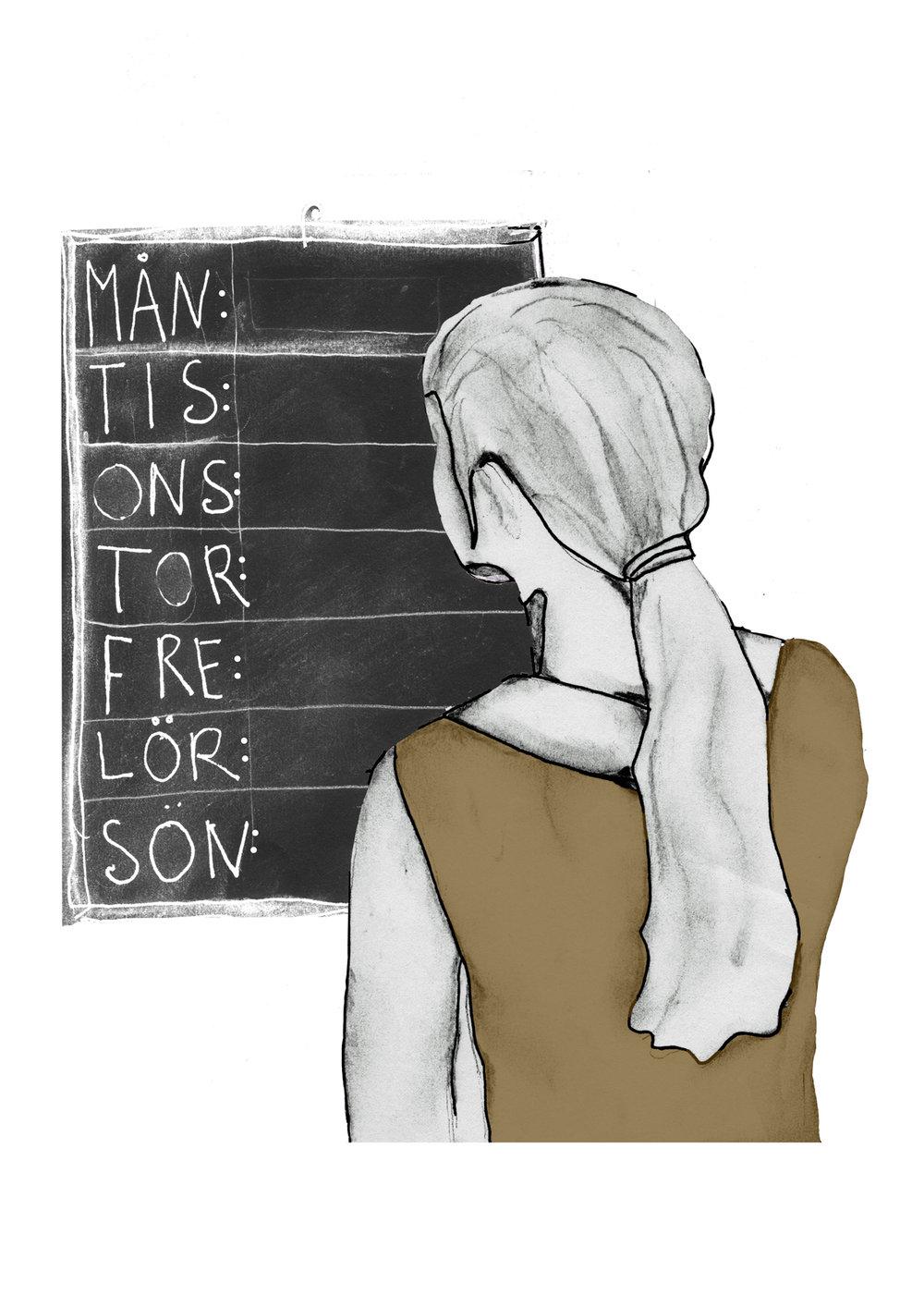 tristess - Illustrationen är baserat på reportaget Goddag tristess som finns på Modern Psykologis hemsida.