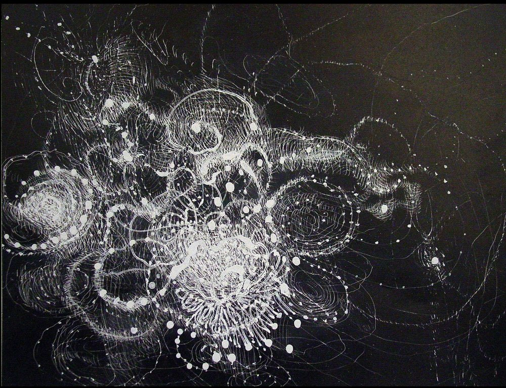 Floater Constellation, 2009, 8 x 10 inches, ink on paper