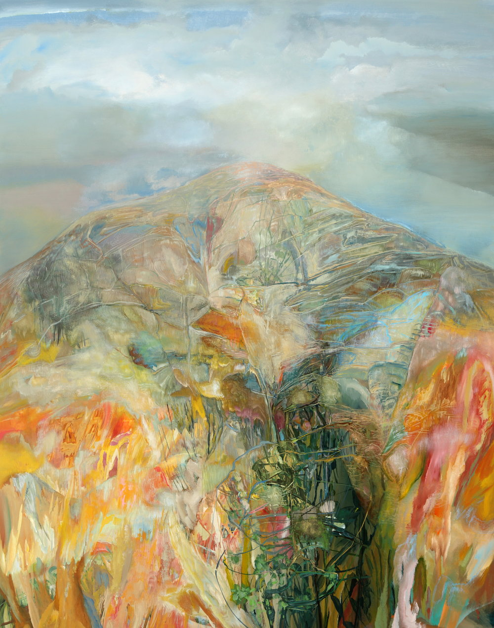 Elementary Geography, Mountain, 2014, 84 x 66 inches, acrylic on canvas