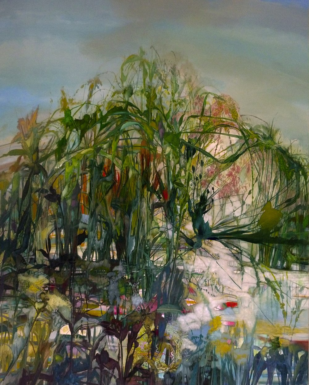 10.Shaking the twilight, Reeds Rain and Vapors, 2017, 84 x 66 inches, acrylic on canvas.jpg