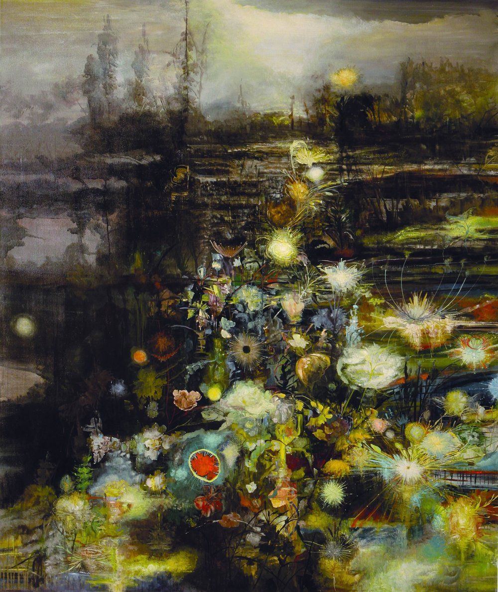 Radiant Night, 2008, 78 x 66, acrylic on canvas.jpg