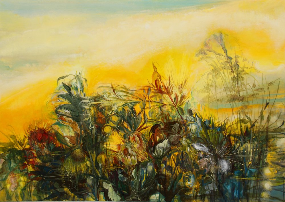 Magic Gold, Full Sun , 2011, 30 x 42, acrylic on canvas