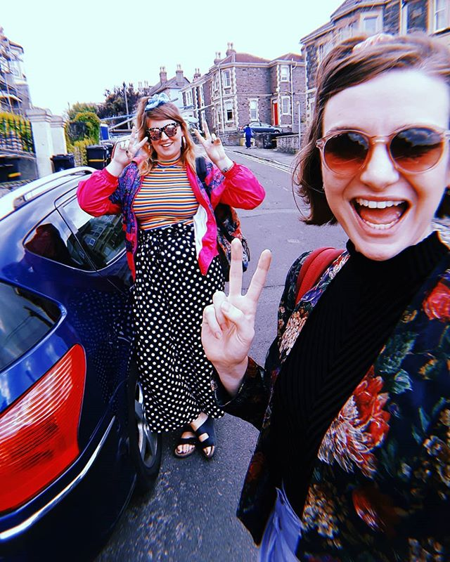 After our final rehearsal this morning we popped to St Paul's with @jackdrewry to sing a stranger an improvised 80's power ballad inviting her to her own hen do! 👰 It was great. Hire us, we'll make you cry and litter your front garden with confetti 🎊🎊