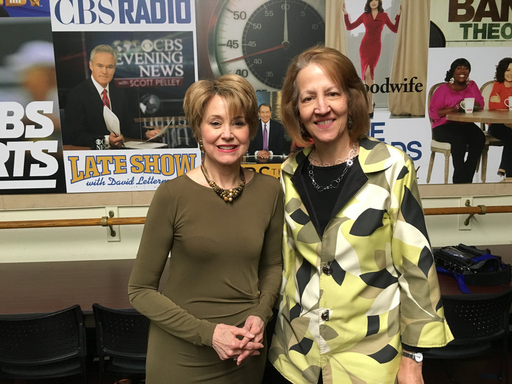 Karyl with Jane Pauley