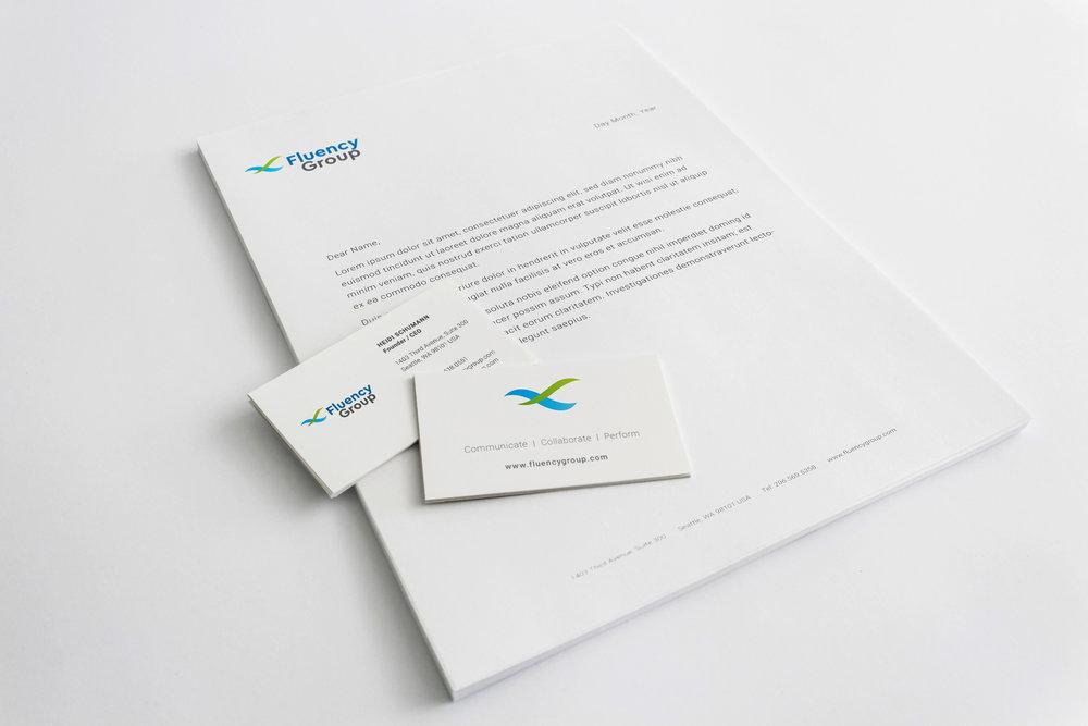 Fluency Group Letterhead & Business Cards