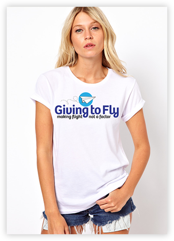 Giving to Fly T-Shirts for grant recipients