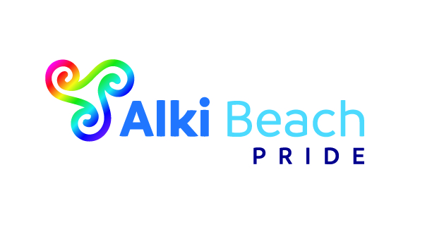 Alki Beach Pride Logo Color