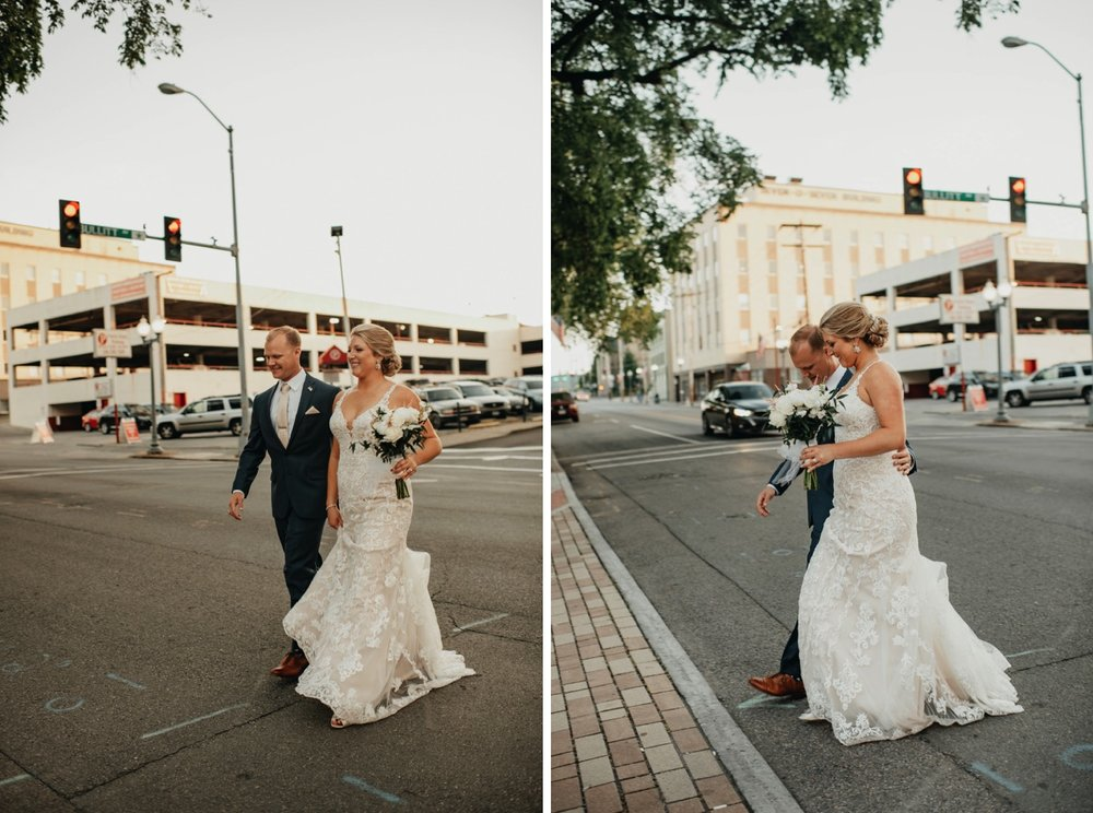 wedding pictures - downtown Roanoke