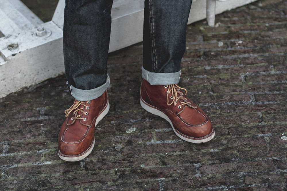 red wing boots 6 inch moc toe