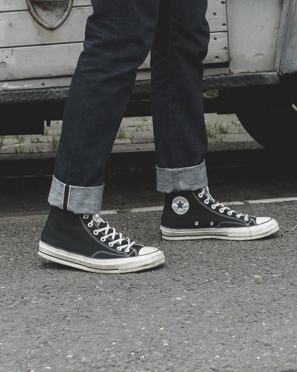 classic mens style - converse Chuck Taylor 70s and japanese selvedge denim
