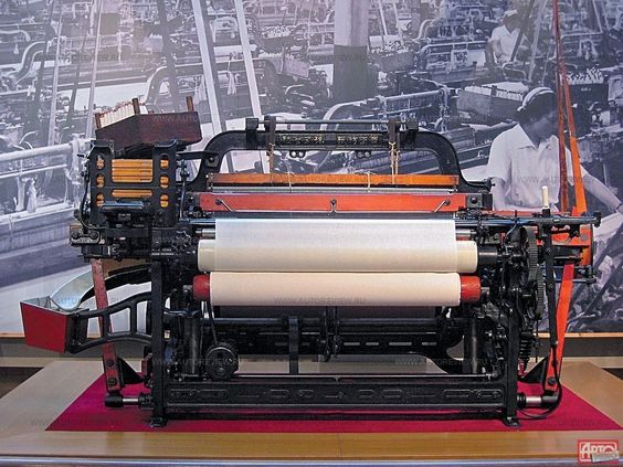 Toyoda Shuttle Loom - Source Pinterest: Source - Heddels