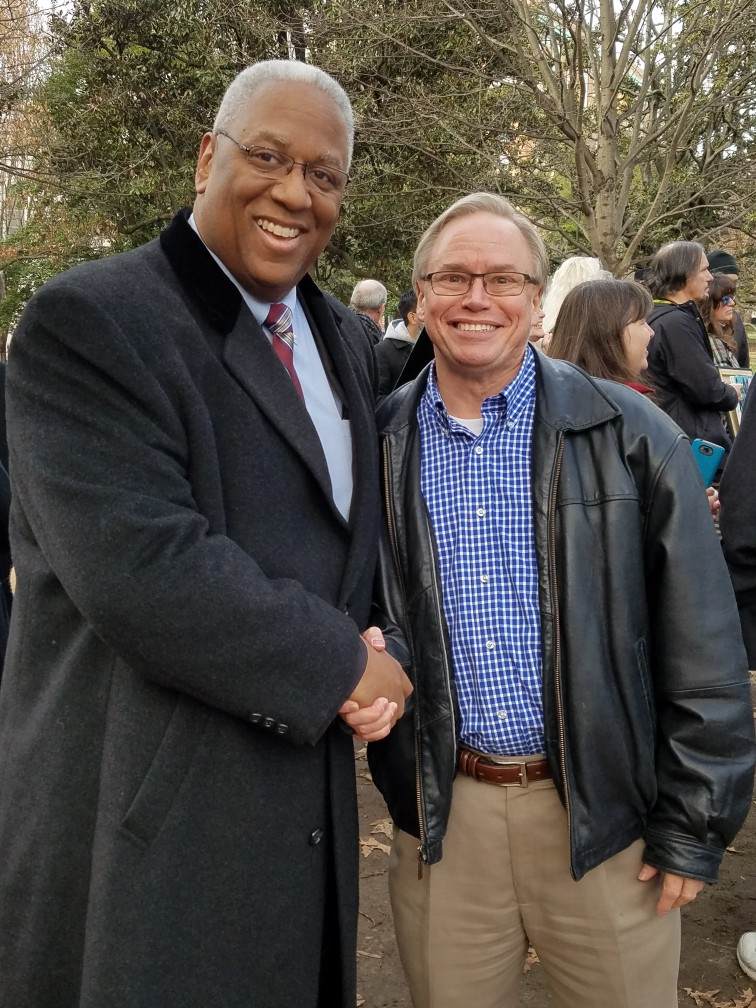 Me with our new Congressman, Donald McEachin at a Medicaid expansion rally in Richmond last year. Trying to get healthcare for Virginia's 400,000 poorest residents. It just passed last week, after 5 years of Republican Party resistance.