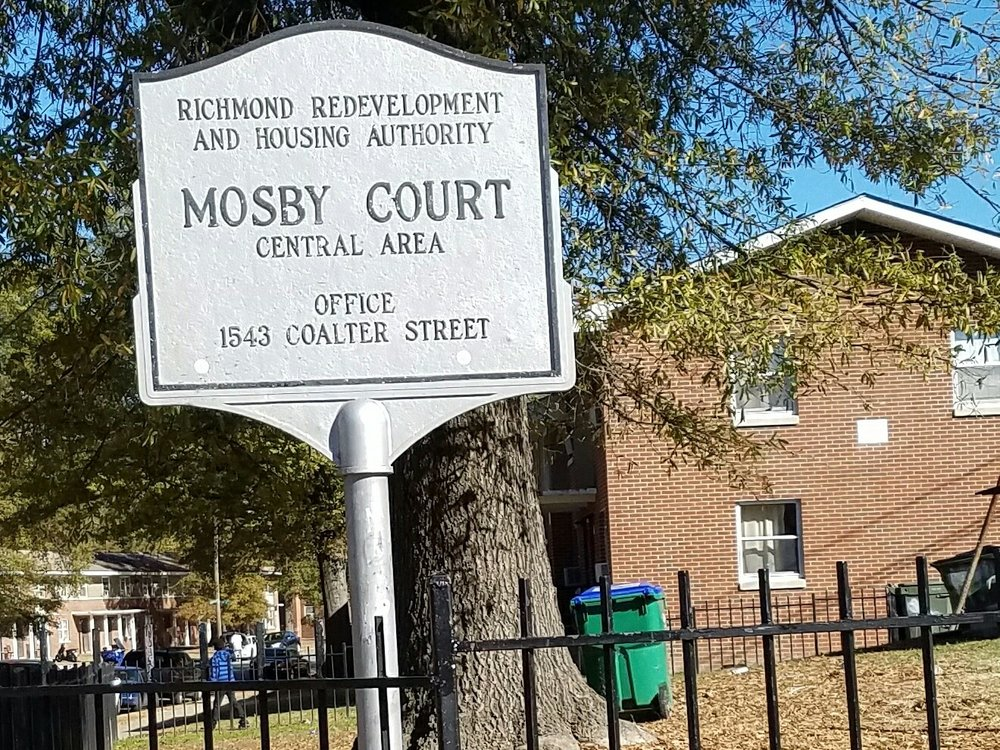 Mosby Court - the most violent public housing project in Richmond. Many of the residents had no heat at all last winter.