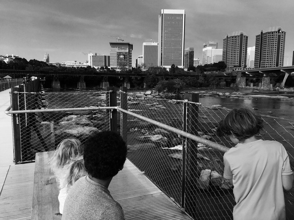 This is a view of   downtown Richmond from the T. Tyler Potterfield Memorial Bridge, taken   9/10/2017.  To me this photo represents   the hope and ambition that is within our community. I love that there are   places like this that we can explore together as a family.