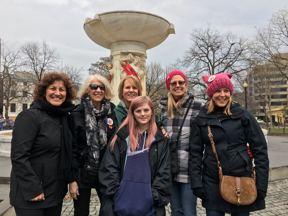 What are the things that matter most to you?  My friends and I at the Women's March in Washington DC in January of 2017!