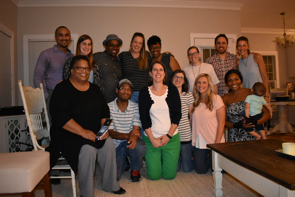 Picture of my Be the Bridge group after watching a documentary called 11am: Hope for America's Most Segregated Hour - this group has given me tremendous hope, community and  joy.