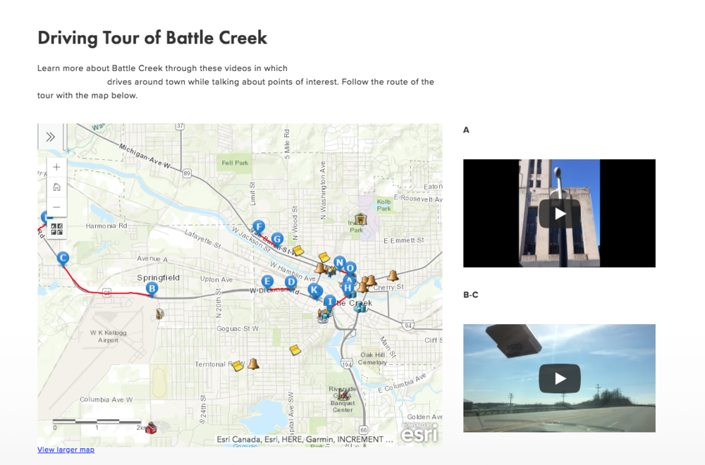 Driving Tour of Battle Creek