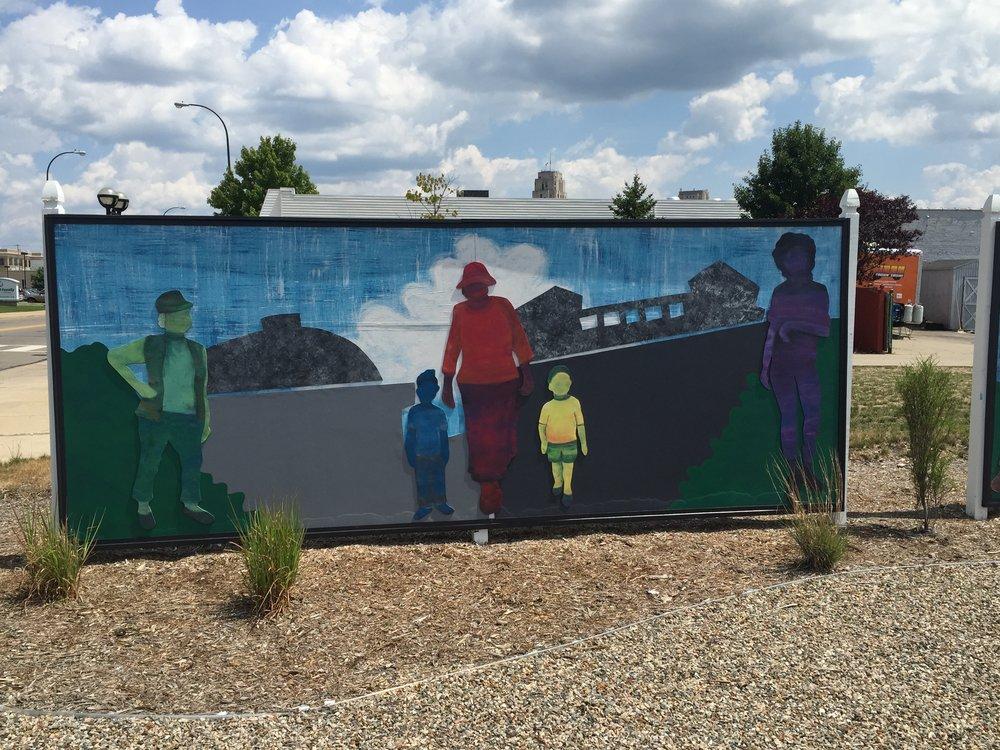 A mural in Battle Creek, MI.