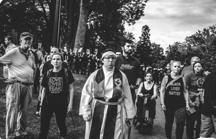 Aug 12,   2018: Rolling with Congregate CVille to fight white supremacy. Goal was to   insert ourselves between marginalized populations & Nazis, violence,   & assaults as well as create a space for healing.