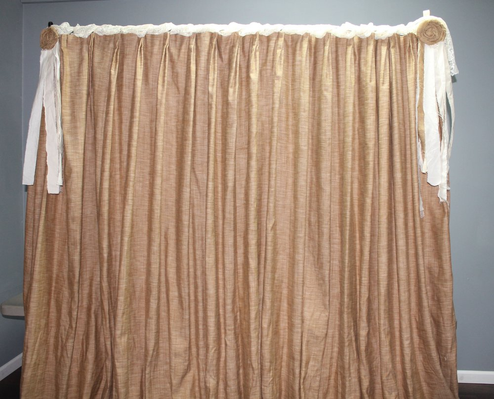 Burlap Curtain Backdrop