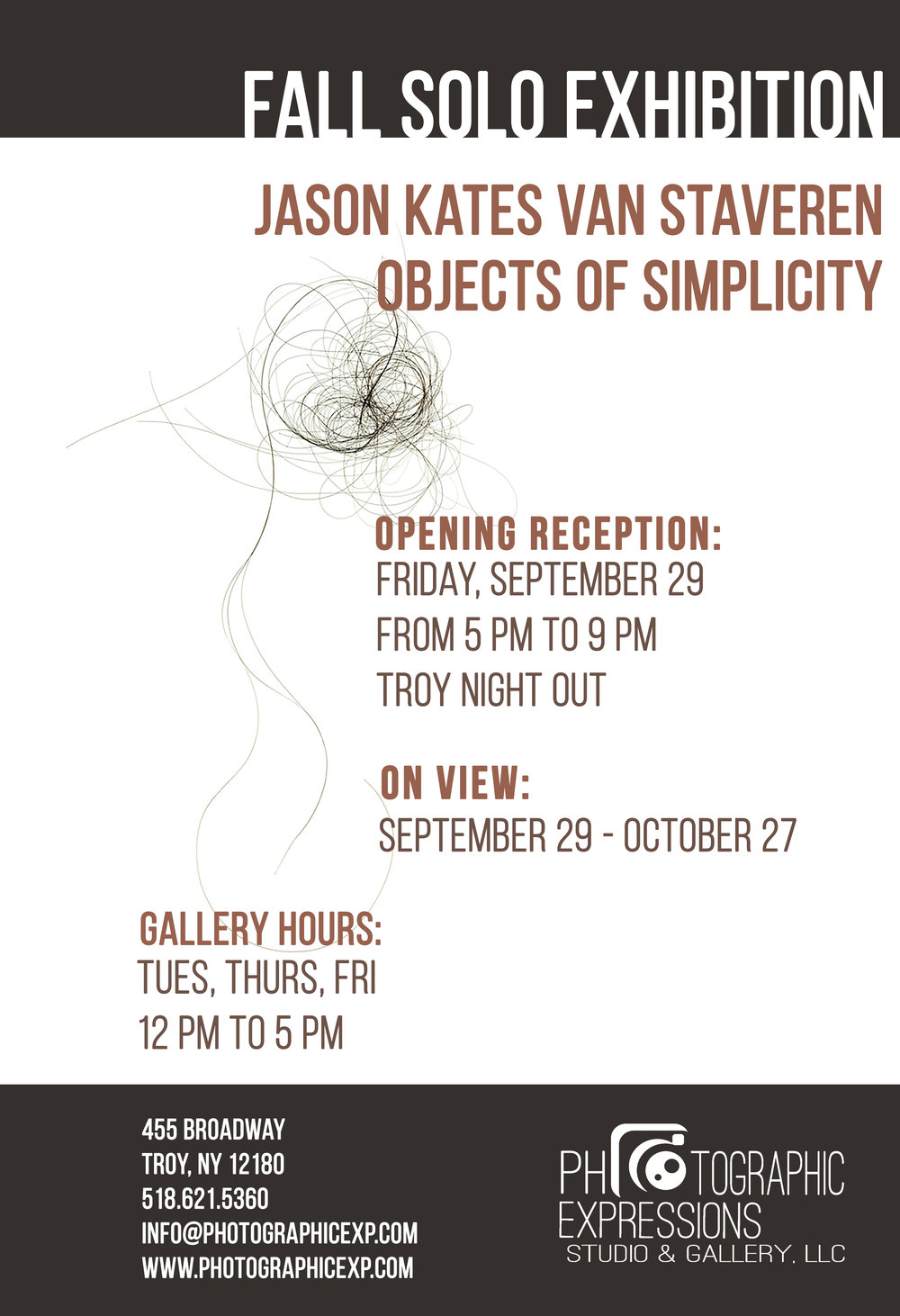 FALL SOLO EXHIBITION: Jason van Staveren, Objects of Simplicity