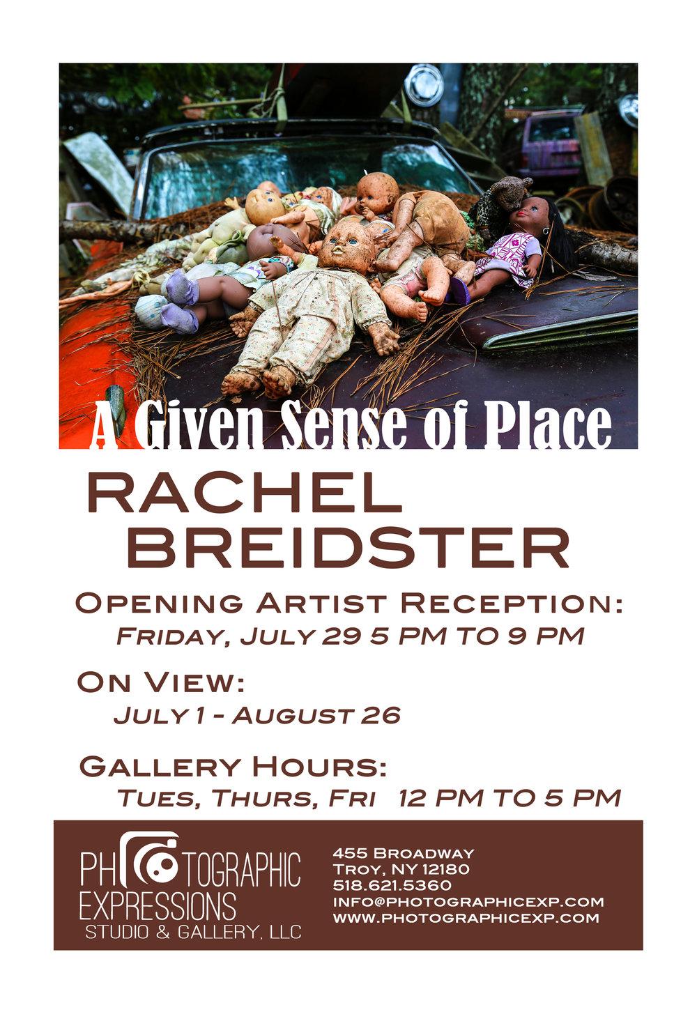 SUMMER SOLO EXHIBITION:  Rachel Breidster, A Given Sense of Place