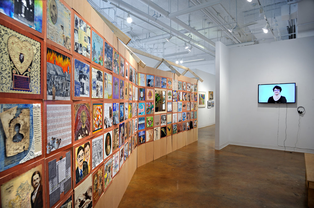 """The One House Project"", Art Watch DC project, exhibition support provided by Touchstone Foundation for the Arts at Touchstone Gallery, November 2017"