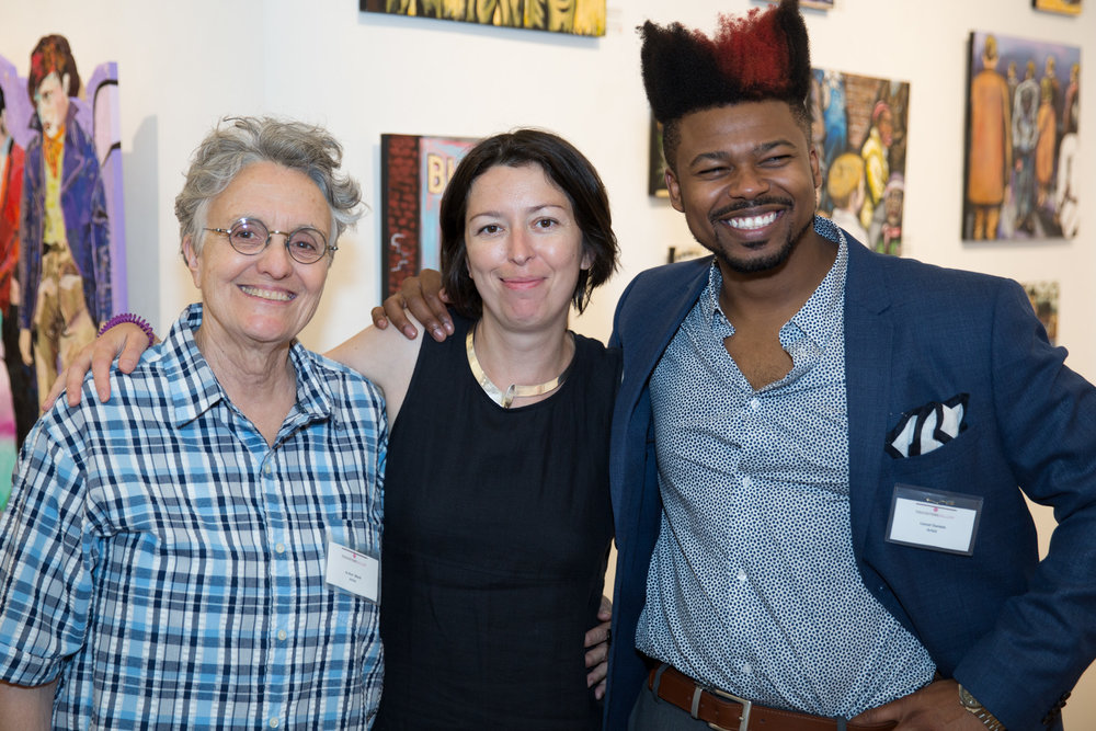 Jo-Ann Block, '15-'17, Ksenia Grishkova, TFA Executive Director and Lionel Daniels, '15-'17